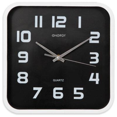 Часы квадратные настенные 25х25 см ENERGY ЕС-09 с плавным ходом на батарейках