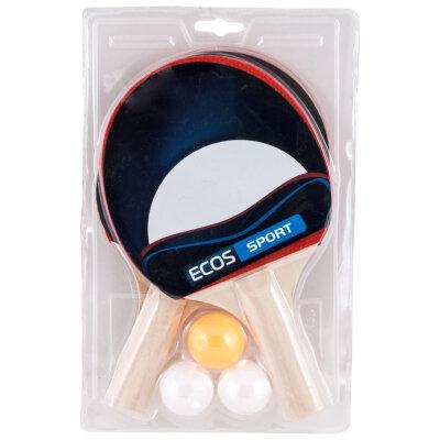 Набор ракеток для игры в пинг понг PPSet-01 с 3 шариками