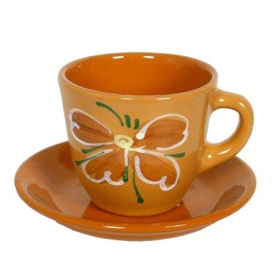 Чашка керамическая для чая с блюдцем