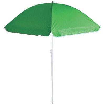 Зонт от солнца пляжный складной ECOS BU-62 диаметр 140 см, штанга 170 см, зеленый