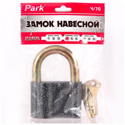 PАRK Ч/70 Замок навесной металлический 70 мм с полукруглым ключом