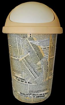 Корзина для мусора 10л Газета 2539ГЗТ