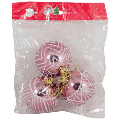Набор из 3-х шаров для украшения елки 6 см SYCB17-438