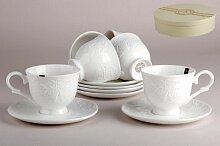 Набор чайный на 6 персон Зара арт. LZN-CO212GIFT фарфор 250 мл