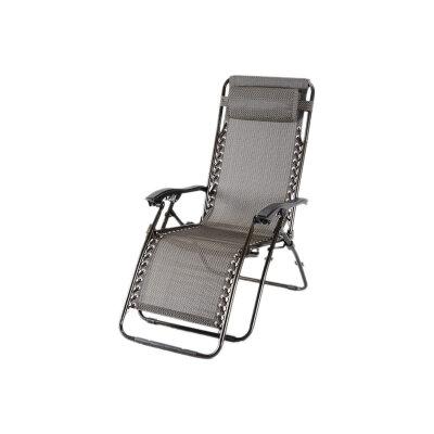 Кресло шезлонг складное с подголовником до 120 кг PARK CHO-137-13 для дачи и кемпинга , вес 6.3 кг