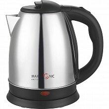 Чайник электрический стальной корпус 1.5 л MAXTRONIC MAX-501 1500 Вт, диск