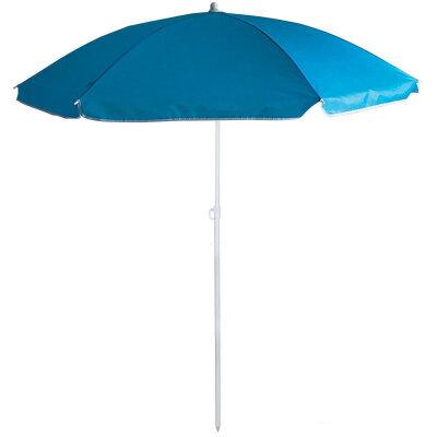Зонт солнцезащитный пляжный ECOS BU-63 синий купол, диаметр 145 см, складная штанга 170 см
