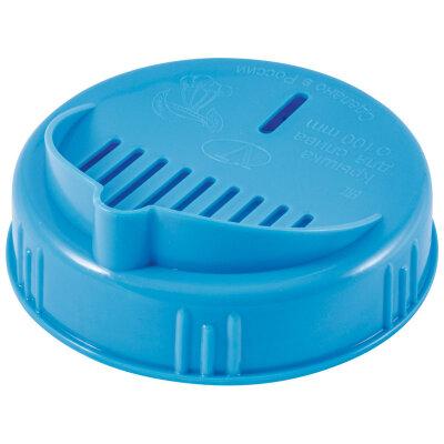 Крышка для слива жидкости  из банок винтовая Твист-офф 100 мм полиэтиленовая