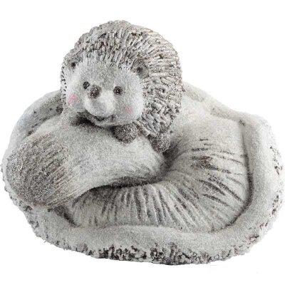 Фигурка декоративная керамическая Ежик и грибочек 32.8x25.2x25.5 см