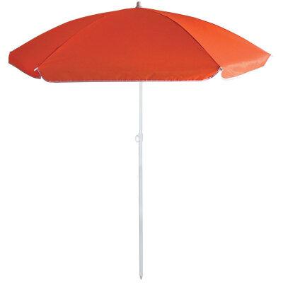 Пляжный зонт складной от солнца ECOS BU-65 красный, диаметр 145 см, штанга 170 см
