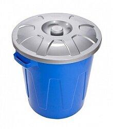 Бак пластиковый с крышкой 58 л С331 Гроссо 53х48 см многофункциональный
