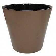 Горшок цветочный 1.6 л Фиджи диаметр 16 см ING1553 металлик бронза
