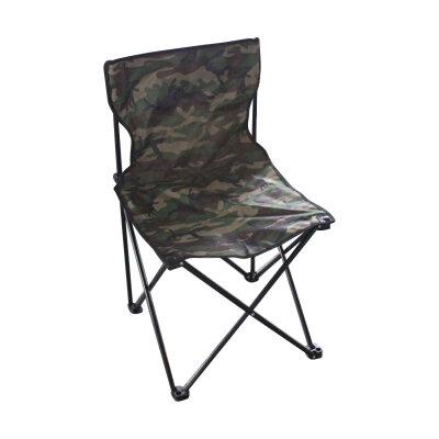 Складной походный стул со спинкой до 80 кг PARK DW-2001 камуфляж