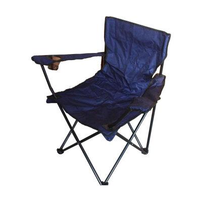 Складное походное кресло с подлокотниками до 120 кг PARK DW-2009H-BL вес 1.7 кг, Темно-синее