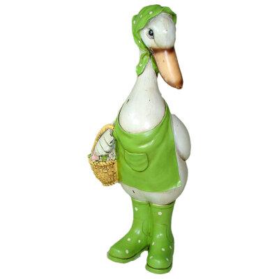 """Фигура садовая полистоун """"Гусыня с корзинкой"""" 32 см PARK GF- Duck-01"""