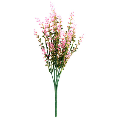 Искусственный цветок для декора Вереск из пластика 35 см