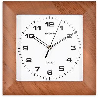 Часы квадратные настенные 29х29 см ENERGY ЕС-14 кварцевые с плавным ходом