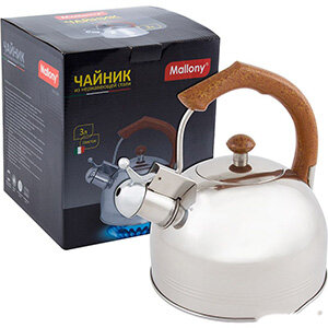Чайник для плиты DJB-3293 Mallony 3 л со свистком капсульное дно