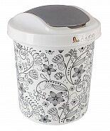 Корзина для мусора 12л Ориджинал декор Кружева 4106КРЖ