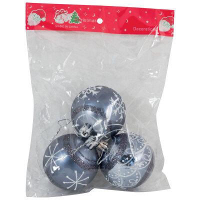 Новогодние шары три штуки 6 см SYCB17-447