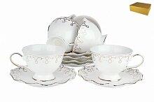 Набор чайный фарфоровый 12 предметов Клеопатра