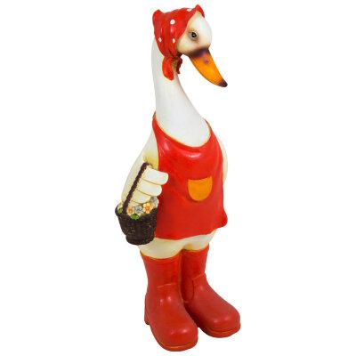 """Садовая фигура из полистоуна """"Гусыня с корзинкой"""" 32 см GF-Duck-02 PARK"""