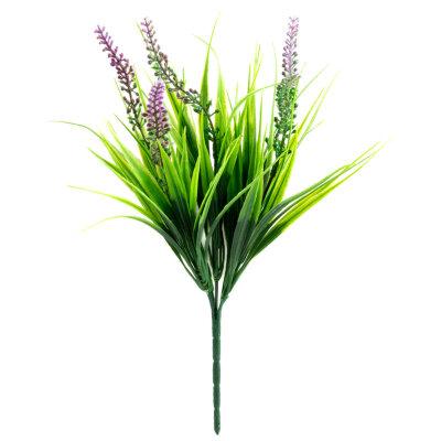 Искусственный цветок для декора Вязель из пластика 30.5 см