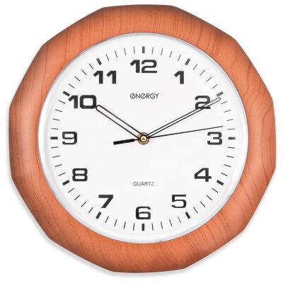 Часы настенные кварцевые с плавным ходом 30 см ENERGY ЕС-15 на батарейках