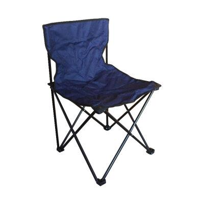 Складной походный стул для карповой рыбалки до 80 кг PARK DW-2001B  темно-синий 47х45х72 см