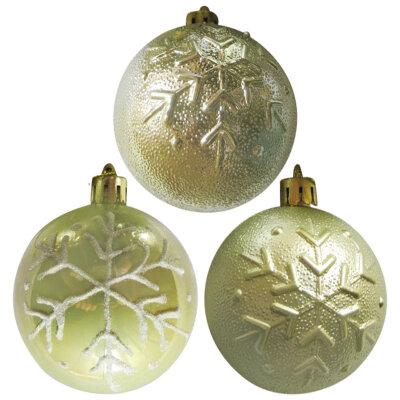 Новогодние елочные шары 3 штуки 6 см SYCB17-458