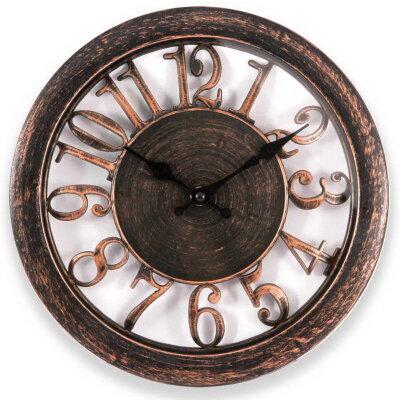 Часы настенные с большими цифрами без секундной стрелки 28 см ENGY ЕС-16 под бронзу