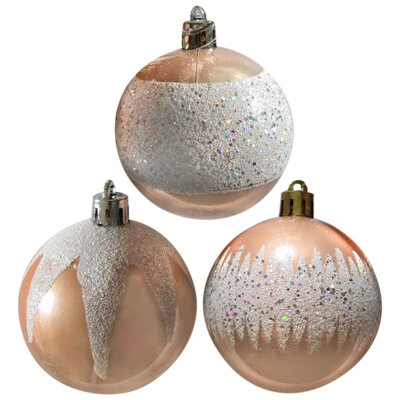 Набор матовых шаров для украшения елки 6 см SYCB17-462 3 шт