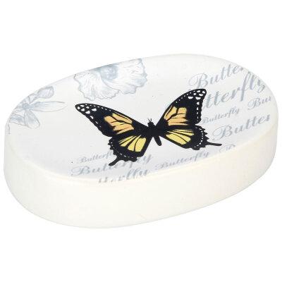 "Мыльница из керамики на раковину ""Бабочки"" 11х8х2.4 см Рыжий КОТ SD-FLY"