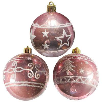 Набор  новогодних шаров на елку 6 см SYCB17-475  3 шт