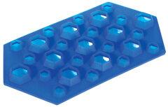 Форма силиконовая для льда «Бриллианты» Regent 93-SI-FO-16.5 на 27 кубиков  23x12x2.5 см