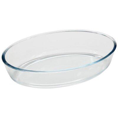Форма для запекания жаропрочная стеклянная 4 л Cristallino Mallony без ручек овальная