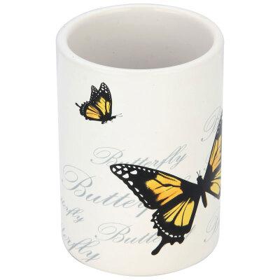 "Стакан для ванной комнаты ""Бабочки"" TU-FLY, керамика"