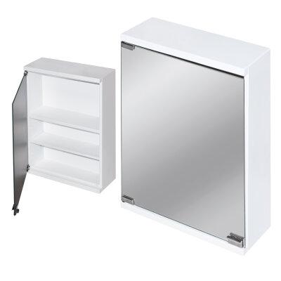 Шкаф навесной для дачи с влагостойким зеркалом 500х380х145 см