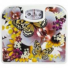 Весы напольные механические домашние до 130 кг Бабочки MAX-1639 Бабочки