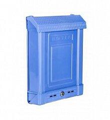 Ящик почтовый уличный с замком синий М6179 Альтернатива