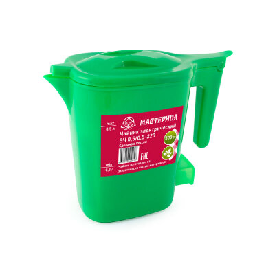 Мини чайник электрический Мастерица 0.5 л, 500 Вт, цвета в ассорименте