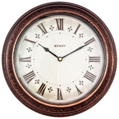 Настенные часы без секундной стрелки 30 см ENGY ЕС-19 с римскими цифрами, круглые