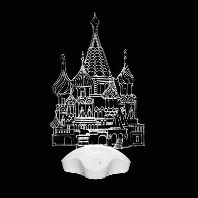 """Светодиодный новогодний светильник """"Собор"""" настольный теплый белый свет"""