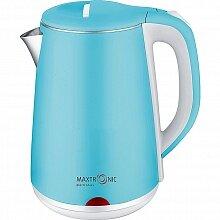 Электрический чайник в нержавеющем корпусе 1.8 л MAXTRONIC MAX-320 1800 Вт, цвет - небесно-голубой