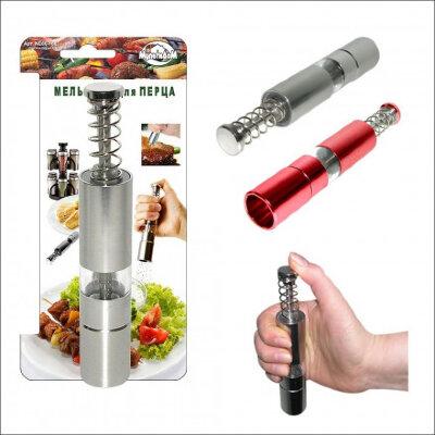 Мельница механическая для перца металлическая NE80-166 цвет Красный или стальной