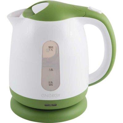 ENERGY E-293 Чайник электрический 1.7 л пластик бело-зеленый 2200 Вт