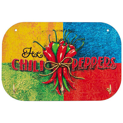 Вешалка для кухонных полотенец Ноt chili peppers 3 крючка