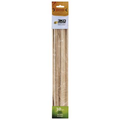Шампур деревянный 40 см квадратный 30 шт