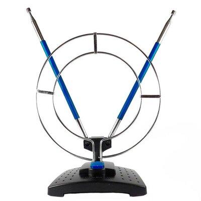 Антенна комнатная ДМВ+МВ с кольцом SE-910 (синие усы), Эфир усы 1м кабель 1м