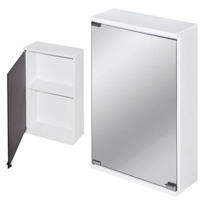 Шкаф навесной с влагостойким зеркалом для ванной комнаты 620х380х145 мм